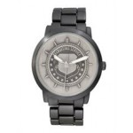 ABelle Promotional Time Men's Enigma Medallion Black Watch Logo Printed