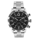 Men's Silver Tone Chronograph Bracelet Watch Branded