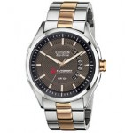 Citizen Eco-Drive Men's Stainless Steel Watch W/ Rose Gold Accents from Pedre Custom Imprinted