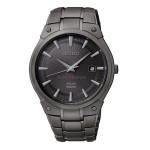 Branded Seiko Men's Solar Black Ion Stainless Steel Dress Bracelet Watch