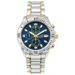 Citizen Men's Two-Tone Chronograph Bracelet Watch W/ Blue Dial from Pedre Branded