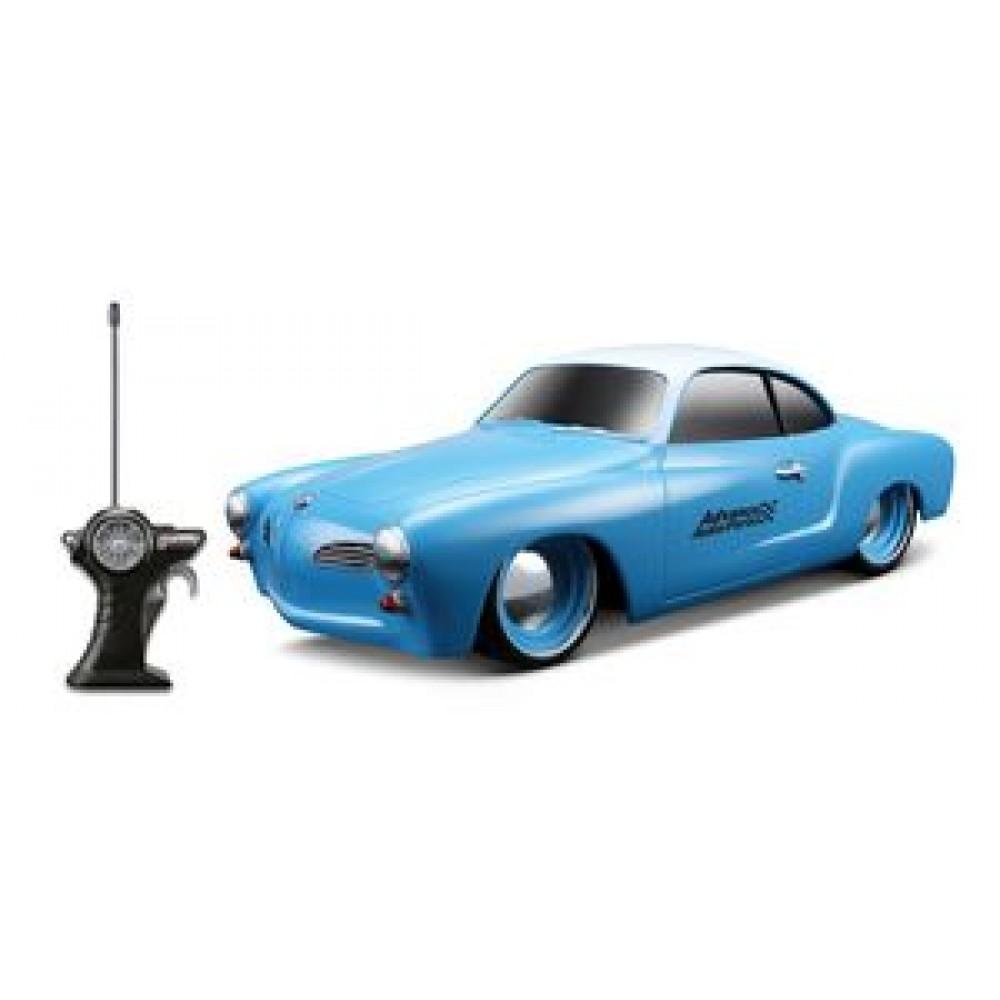 "1/24 Scale 7"" Remote Control Car 1966 Volkswagen Karmann Ghia Custom Branded"