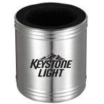 Custom Imprinted USA PRINTED Stainless Steel Can Cooler with Foam Insulator