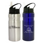 22 Oz. Wide Mouth Aluminum Water Bottle with Drink Spout Logo Printed