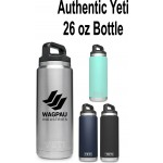 Authentic YETI 26 oz. Bottle Laser Engraved Logo Printed