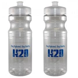 24 Oz. Translucent Bike/ Fitness Bottle Custom Imprinted