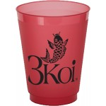 12 Oz. Tinted Translucent Unbreakable Frosted Cup Custom Imprinted