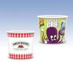 Custom Imprinted 16oz-Reusable White Plastic Containers