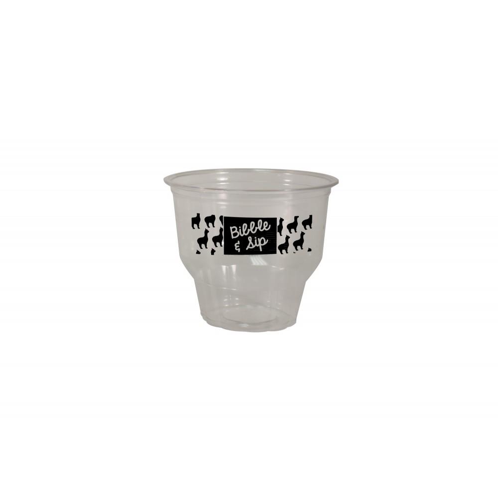 Logo Printed 12 Oz Clear Plastic Dessert/Parfait Cup