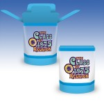 Custom Imprinted 10oz-Reusable Clear Plastic FoldTop Containers