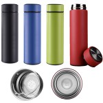 Logo Printed 16 OZ Stainless Steel Sports Water Bottle Double Wall Vacuum Insulated Water Bottle