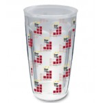 Custom Branded 16 Oz. Double Wall Insulated Thermal Tumbler - Clear Printed Insert