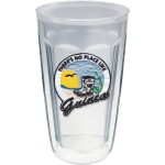 16 Oz. Double Wall Insulated Thermal Tumbler - Embroidered Emblem Logo Printed