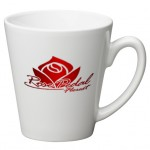 12 oz. White Cafe Latte Mug Custom Printed