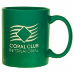 Custom Branded Green Skyline Landmark Mug (11 Oz.)