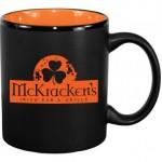 Custom Branded 11 oz. Orange In / Matte Black Out Hilo C Handle Mug
