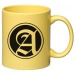 11 oz. Yellow C Handle Mug Custom Imprinted