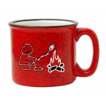 Custom Branded 15 oz. Red Out White In Campfire Mug
