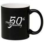 11 oz. White In / Black Out C Handle Mug Custom Printed