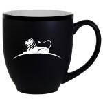 Hilo Bistro Two-Tone Matte Mug: White (16 Oz.) Custom Imprinted