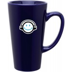 Custom Branded 16oz Tall Latte Mug (Cobalt Blue)