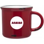 Logo Printed 15oz Ventura Mug (Red & White)