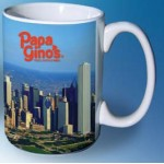 Logo Printed Full Color Mug White Inside (15 Oz.)