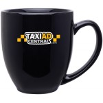15oz Bistro Mug (Black) Custom Printed