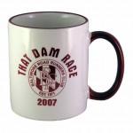 Logo Printed 11 oz. White / Burgundy Trim and Handle C Mug