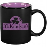 11 oz. Purple In / Matte Black Out Hilo C Handle Mug Logo Printed