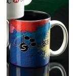Custom Branded Sublimated Two-Tone Mug Black Inside (11 Oz.)
