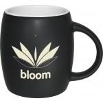 Logo Printed Barrel Two-Tone Matte Mug: White (14 Oz.)