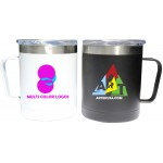Logo Printed 12 Oz. Double Wall Stainless Steel Vacuum Insulated Mug