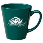 12 oz. Green Cafe Latte Mug Custom Imprinted