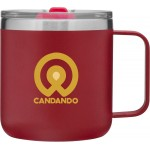 Custom Imprinted 12oz Camper Mug (Matte Red)