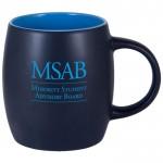 14 Oz. Robusto Black Matte Out/Color In R-Mac Ceramic Mug Custom Printed