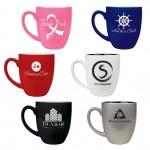 16 oz. Ceramic Bistro Mugs - Laser Engraved Custom Imprinted
