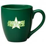 Logo Printed 16 oz. Dark Green Bistro Mug