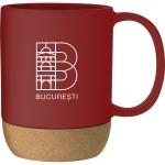 13oz Beck Mug (Red) Logo Printed