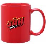 Custom Imprinted 11oz C-Handle Mug (Red)