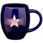 Custom Branded 16 oz. Cobalt Blue Barrel Mug