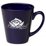 Logo Printed 12 oz. Cobalt Cafe Latte Mug