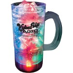 Custom Branded 22 Oz. Plastic Light-Up Fluted Mug