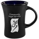 Logo Printed Slim Mug Two-Tone Matte - Cobalt