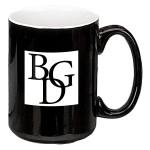 Logo Printed 15 oz. White In / Black Out Two Tone El Grande Mug