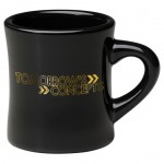 Custom Branded 10 oz. Black Military / Diner Mug