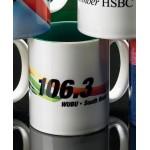 Sublimated Two-Tone Mug Green Inside (11 Oz.) Logo Printed