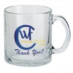 Custom Branded 13 Oz. Clear Glass Mug