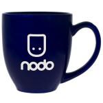 Custom Branded Blue Bistro Mug (16 Oz.)
