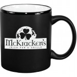 Logo Printed 11 oz. White In / Matte Black Out Hilo C Handle Mug